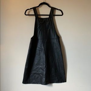 Other - Faux Leather Overall Dress